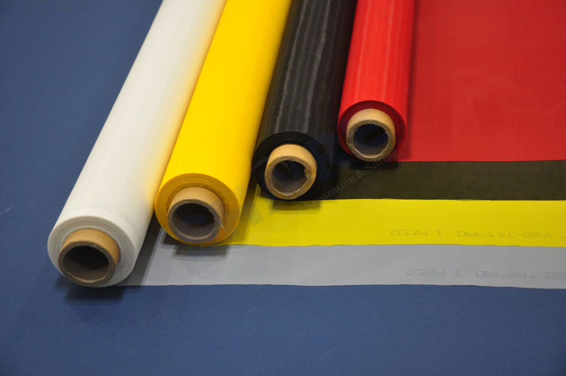 Silk Screen Printing / Nylon Screen Printing Mesh For Glass And Ceramic Printing